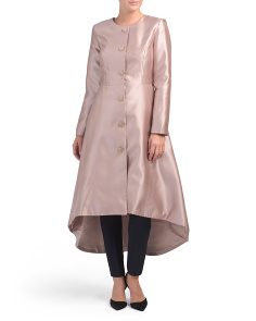 Hi-lo Button Front Coat