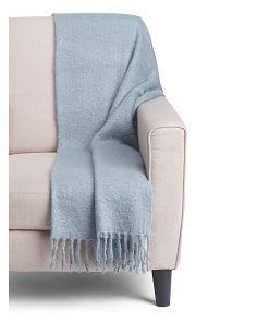 Mohair Fringe Throw