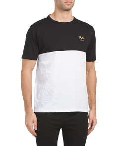 Color Block Embossed Lion Top