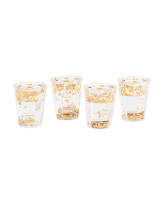 4pk Floating Glitter Shot Glasses