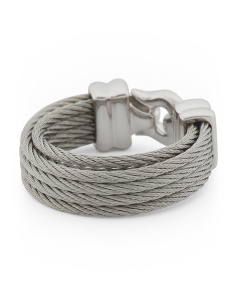 Stainless Steel Brilliant Cable Ring
