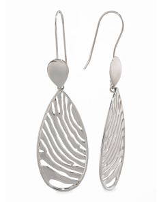 Made In Thailand Sterling Silver Zebra Drop Earrings