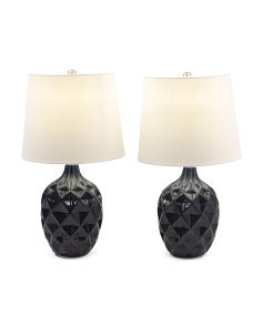 Set Of 2 Geo Table Lamps