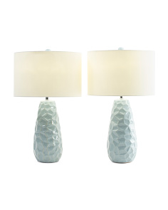 Set Of 2 Dimple Ceramic Table Lamps