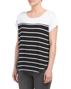 Scoop Neck Striped Tee
