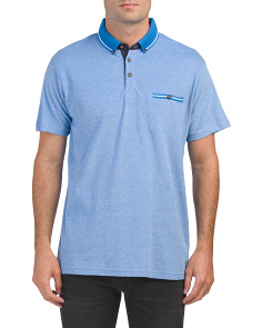 Short Sleeve Heather Polo