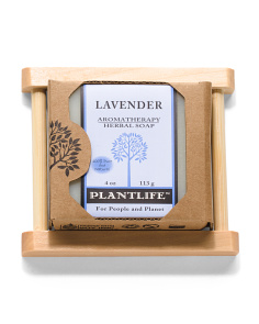 All Natural Lavender Soap With Dish
