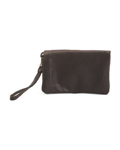 Made In Italy Leather Wristlet