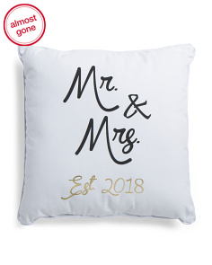 18x18 Mr. & Mrs. 2018 Pillow