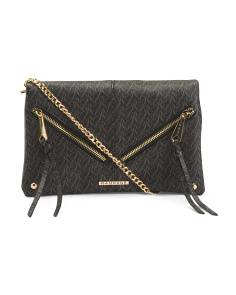 Zip Front Signature Crossbody