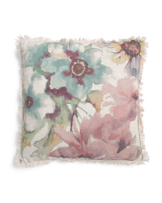 20x20 Printed Linen Look Pillow