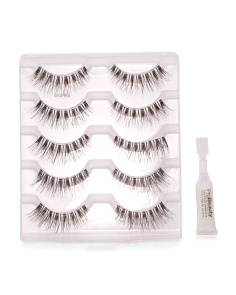 5pk Wispie Lashes With Adhesive