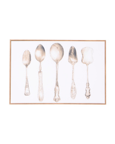 24x16 Vintage Spoons Canvas Wall Art