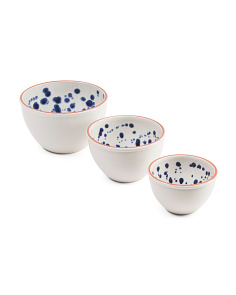 Set Of 3 Speckle Design Bowls