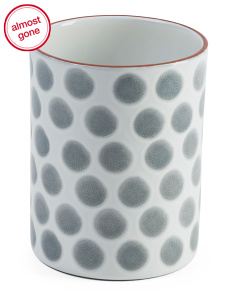 Made In Portugal Dots Utensil Crock