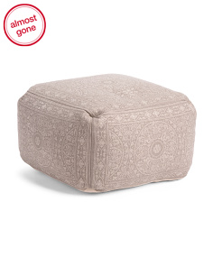 Made In India Medallion Pouf