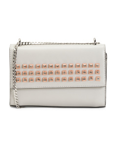 Front Flap Embellished Shoulder Bag
