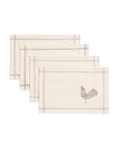 Made In India Set Of 4 Rooster Placemat Set