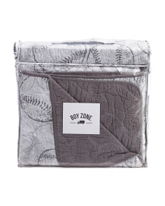 Distressed Baseball Quilt Set