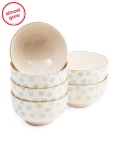 Made In Portugal Set Of 6 Dot Bowls