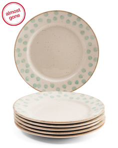 Made In Portugal 6pk Dot Dinner Plates
