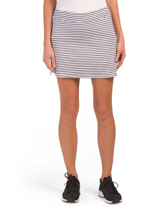Optic Stripe Everyday Skort