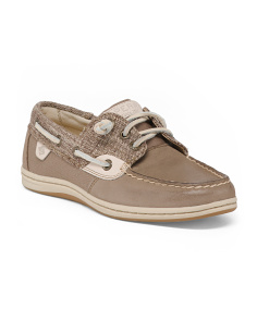 Moisture Wicking Leather Boat Shoes