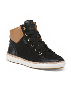 High Top Premium Leather Sneakers