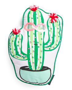18in Cactus Sunglasses Pillow