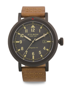 Men's Scout Hd Leather Strap Watch