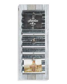 12x30 Rustic Photo Clips Display