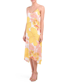 Juniors Neon Floral Midi Dress