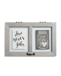 Double Sided 5x7 Floating Wall Frame
