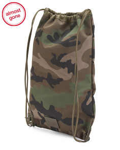 Made In Italy Camo Drawstring Backpack