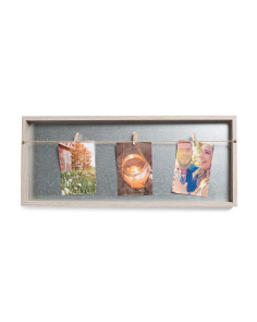 24x10 Recessed Rope Clip Photo Display