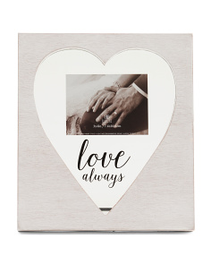4x3 Love Always Heart Photo Frame
