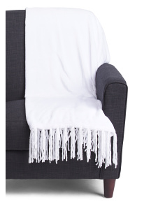 Plush Tassel Throw