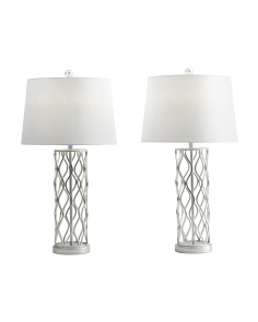 Set Of 2 Iron Table Lamps