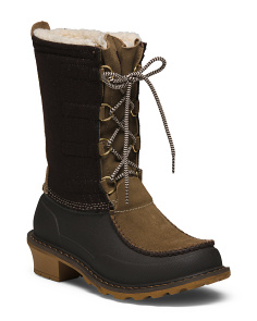 Insulated Waterproof Cold Weather Suede Boots