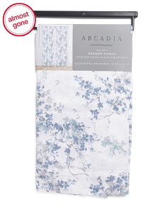 Set Of 2 Christa Floral Curtains
