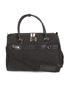 18in Faux Python Trim Quilted Duffel