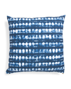22x22 Shibori Dot Stripe Pillow