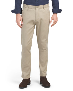 Stretch Twill Flat Front Pants