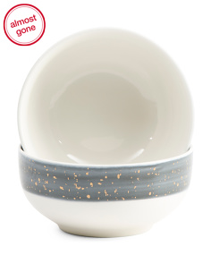 2pk Speckle Bowl Set