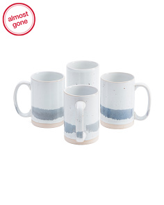 4pk Multi Stripe Reactive Mugs