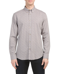 Micro Twill Floral Shirt