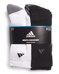 6pk Stripe Crew Socks