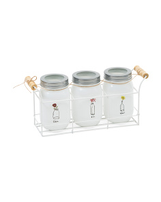 Set Of 3 Mason Jars