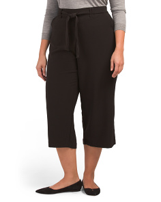 Plus Pull On High Rise Gaucho Pants