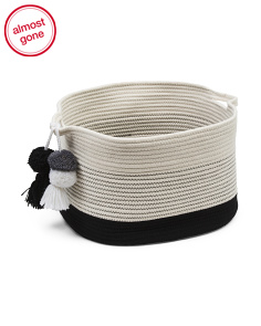 Large Cotton Rope Storage Basket